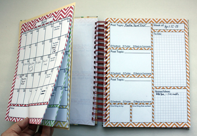 Homemade Blog Planner