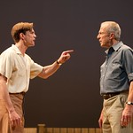 Lee Aaron Rosen as Chris Keller and Will Lyman as Joe Keller in the Huntington Theatre Company's production of ALL MY SONS at the BU Theatre. Part of the 2009-2010 season.