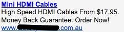 HDMI Cables - Ad #1