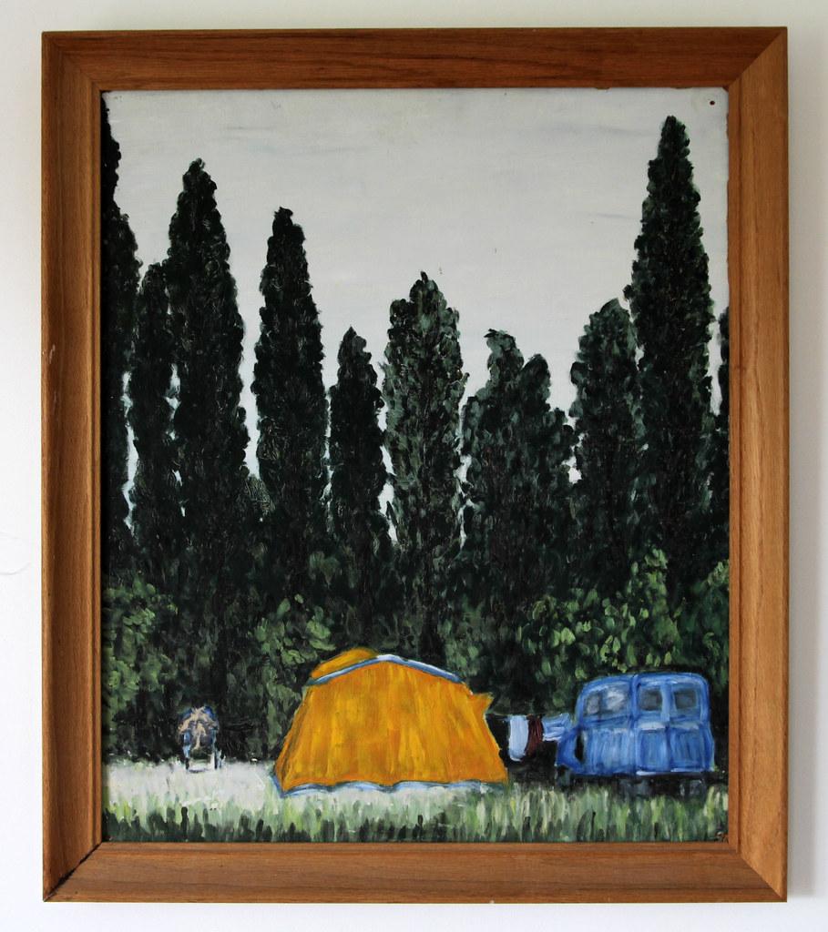 Camp in Avignon, August 1963