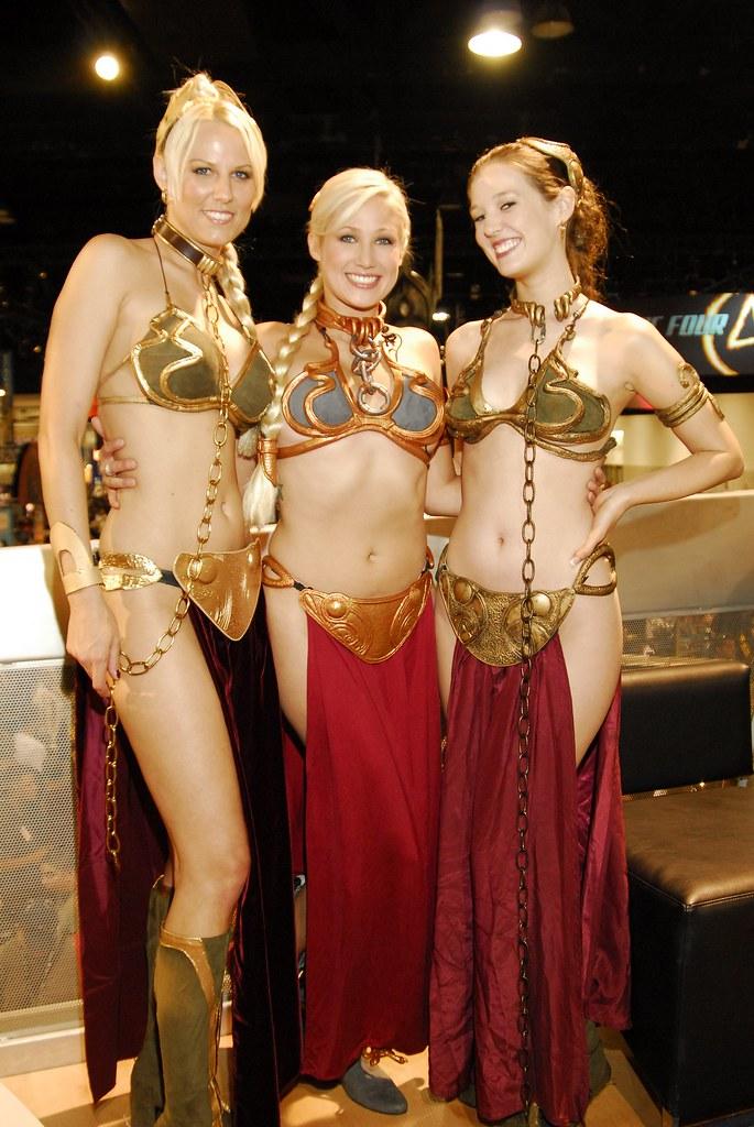 Three Slave Leias at ComicCon