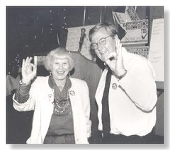 Governing Board Member Linda B. Rosenthal & Chancellor Paul Elsner, 1994 Bond Election