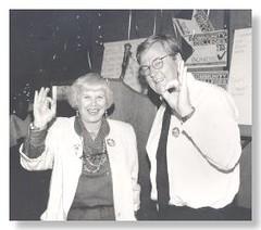Governing Board Member Linda B. Rosenthal & Chancellor Paul Elsner, 1994 Bond Election
