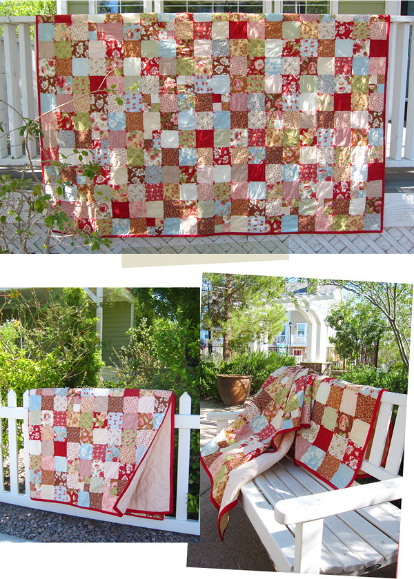 first quilt collage 1