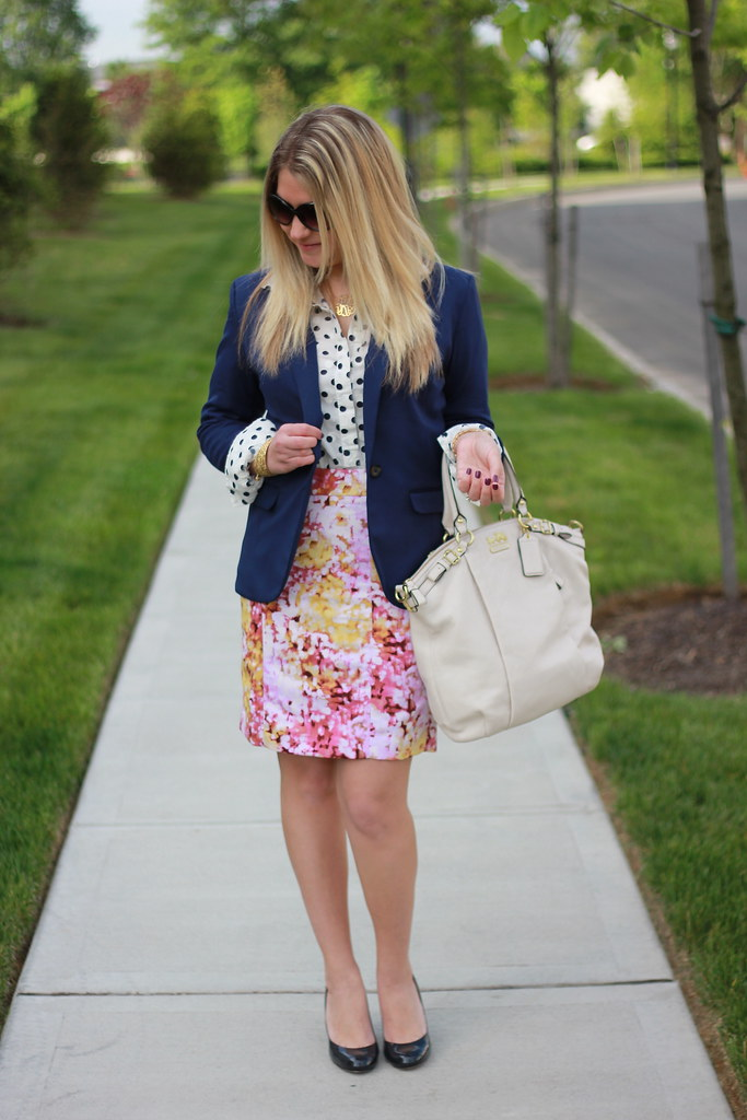 pattern mixing with polka dots