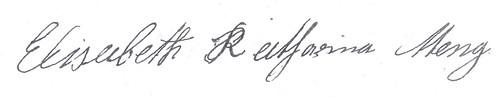 Elisabeth Katharina Meng signature
