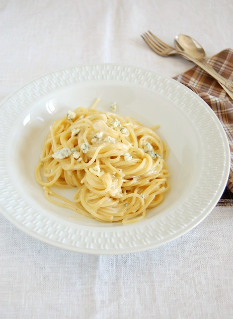 Spaghetti with gorgonzola / Espaguete com gorgonzola