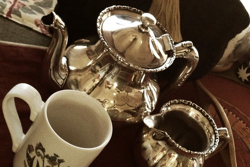 Silver tea set by ConserVentures