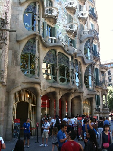 Gaudí's Casa Batlló, on the Passeig de Gràcia