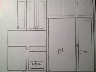 New kitchen - sketch of right wall