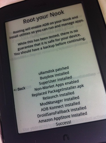 Rooting my Nook