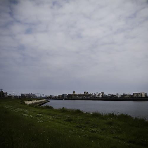 Across the Kyo Edogawa River to Urayasu