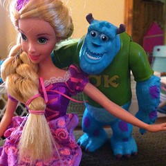 Uh oh!  #sully is making the moves on #rapunzel ...