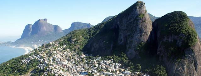 Vidigal e São Conrado. Rio de Janeiro, Brasil