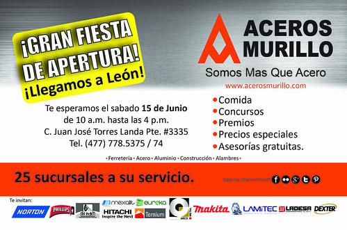 Gran Inauguración de nuestra Sucursal en Leon by Aceros Murillo