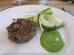 ©Kurz gebratenes Tartar von der Holsteiner Färse mit Spargelsalat