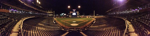 Nighttime panorama at AT&T Park