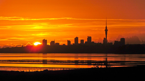 city morning newzealand sky cloud nature silhouette skyline sunrise harbour outdoor auckland skytower centralbusinessdistrict waitemataharbour aucklandwaitakere
