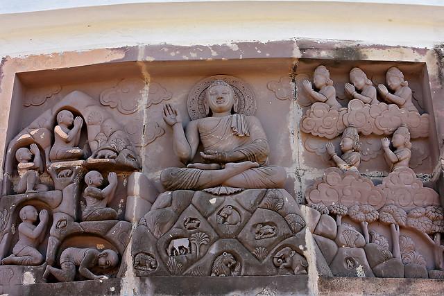 Sculpture, wall panel, Dhaulagiri, Bhubaneswar, Odisha, Buddha