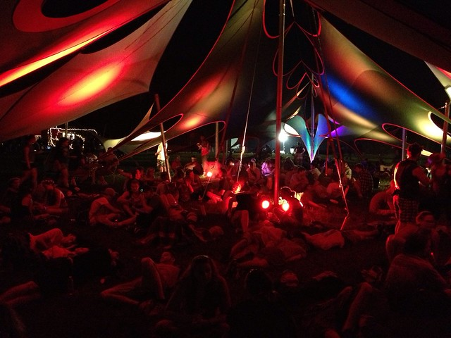 Bonnaroo 2013 - One of the hangout tents in Centeroo