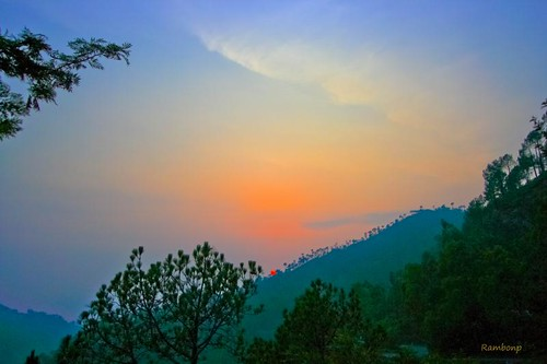trees sunset red wallpaper sky orange sun india mountains nature silhouette yellow clouds canon landscape evening twilight paradise sundown crop chandigarh sukhnalake dimness touristplace