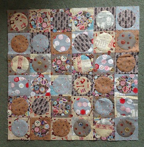 Circle patchwork in progress