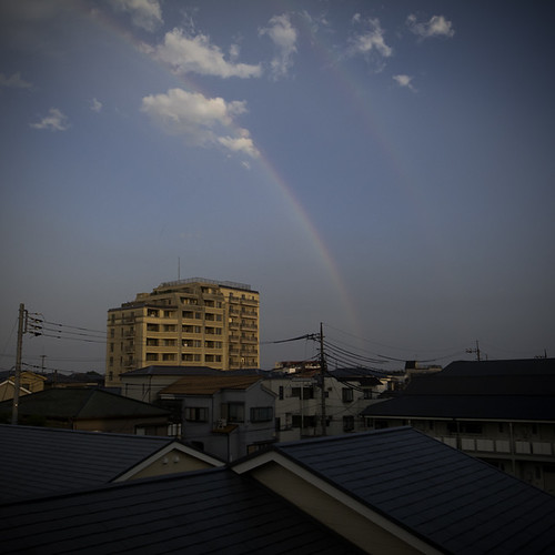 Double Rainbow with Pot of Apartment, Kasai, Tokyo, Japan