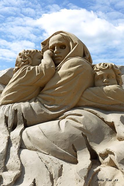 Sand sculpture about Kalevala