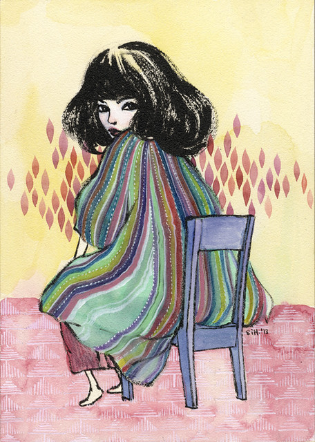 "Nartaka 6. 5"" x 7"". Ink & Watercolor on Aquabord (Masonite). © 2013."