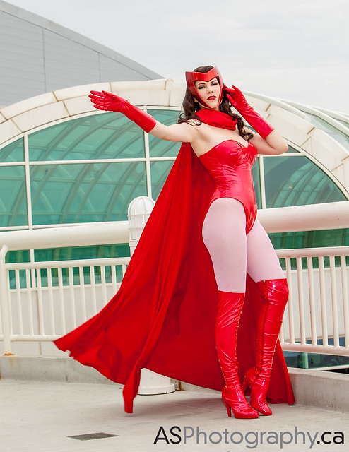 Scarlet Witch by the awesome GillyKins at Comic-Con SDCC 2013
