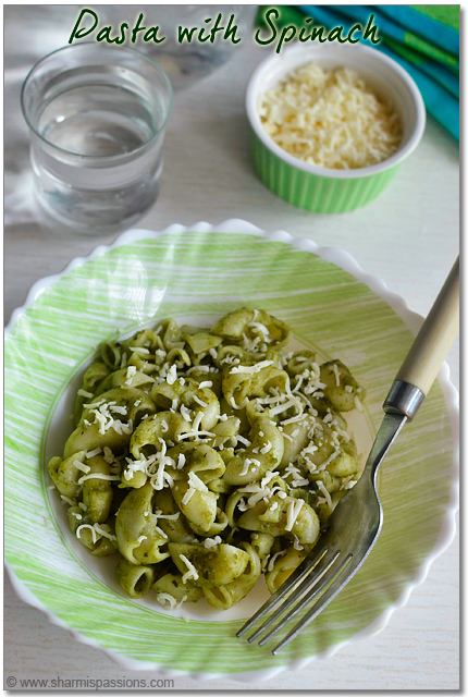 Spinach Pasta with Palak