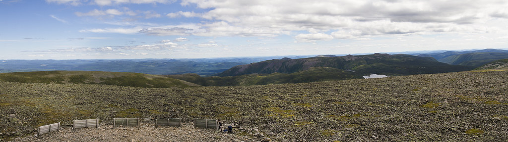 Panorama from the top of Mont Jacques-Cartier