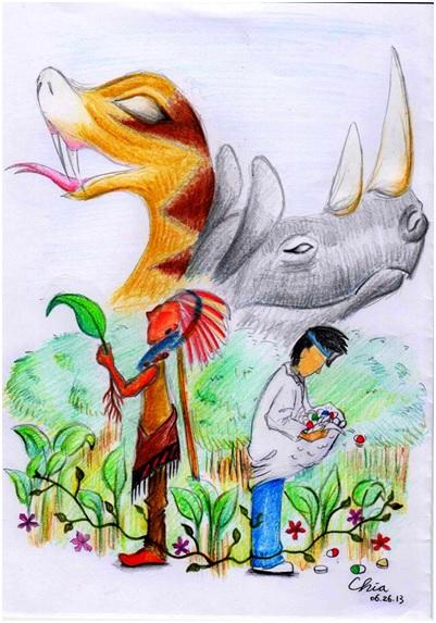 生物多樣性為大自然的醫藥寶庫。 插圖作者:恰恰狗
