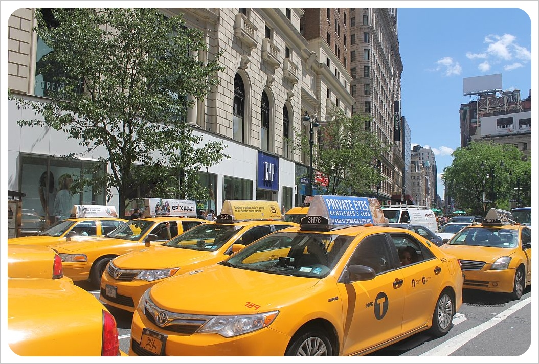 new york broadway taxis