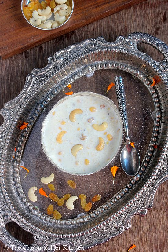 rice and milk kheer