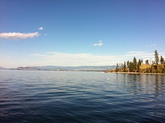 Okanagan Lake looking at Bertram Creek Park