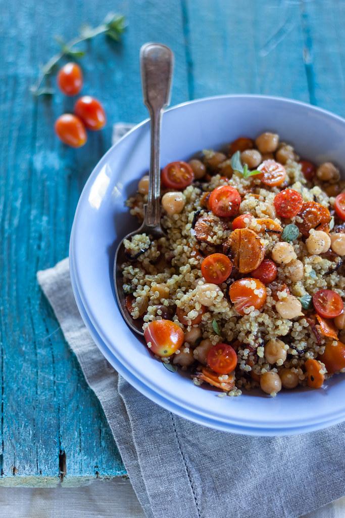 Insalata di quinoa e carote