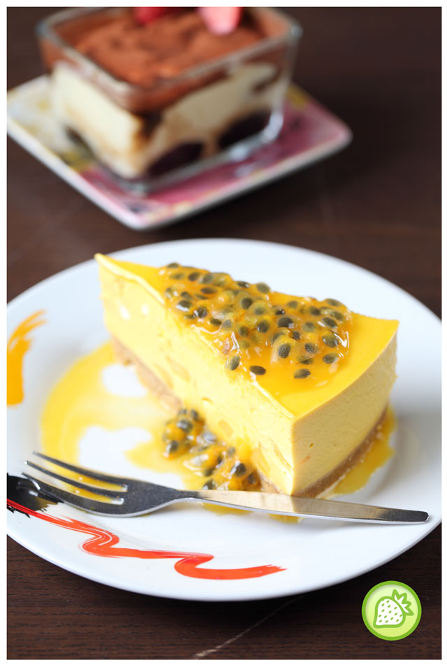 passionfruit mango cheesecake