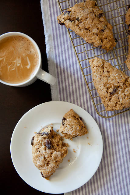 Baking with Whole Grains: Oatmeal Raisin Scones