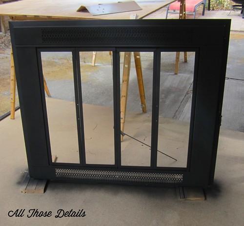 Repainting Brass Fireplace Doors