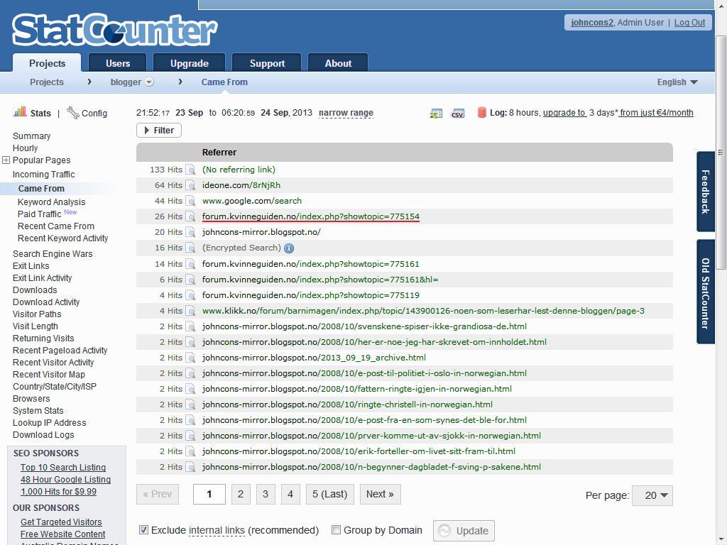 forum statcounter