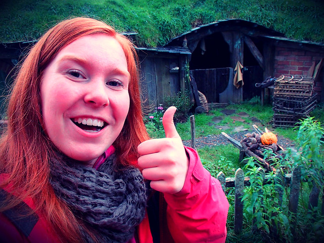 Thumb up in Hobbiton