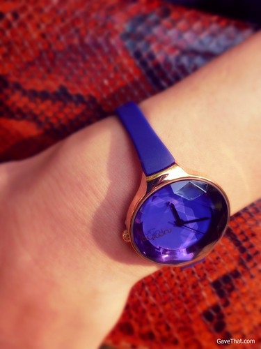 Rumba Time Orchard Collection Sapphire Blue Wrist Watch on Gift Style Blog Gave That