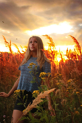 sunset sexy nature girl field canon pretty ukraine blond knitted ivanofrankivsk
