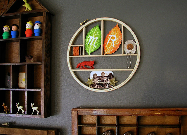 embroidery hoop Knick Knack Shelf up