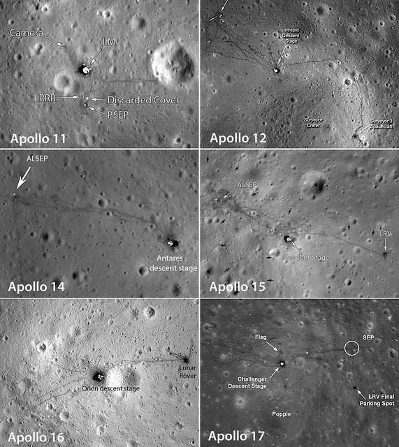 Apollo all LRO views