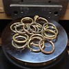 Big ol' pile of gold twig rings!  I just love what I get to do every day.