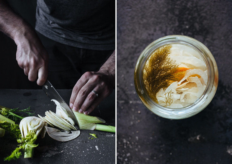 Pickles de funcho e laranja