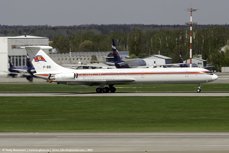 North Korean Ilyushin Il-62M P-881