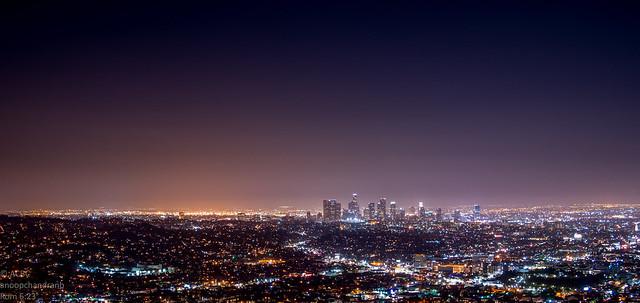 City Lights - LA at distance